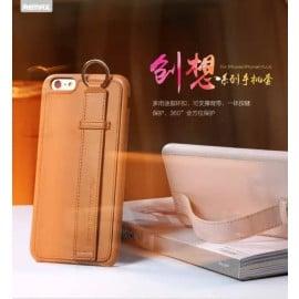 Remax ® Apple iPhone 6 Plus / 6S Plus Vision Series Metallic Holder + Anti-Drop Grip Leather Case Back Cover