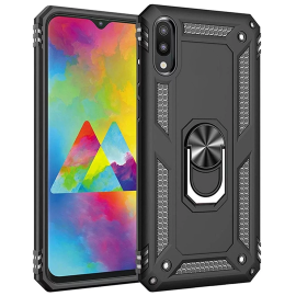 Vaku ® Samsung Galaxy M10 Armor Ring Shock Proof Cover with Inbuilt Kickstand