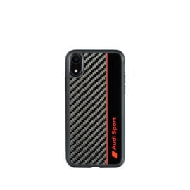 AUDI ® For Apple iPhone XR Official Audi R8 Sport Carbon Fiber Gloss Back Cover