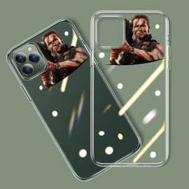 Vaku ® Apple iPhone 11 Pro Max Terminator Rocket Launcher Designer Print Transparent Back Cover