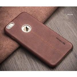 VAKU ® Apple iPhone 6 Plus / 6S Plus Nexza Series Double Stitch Leather Shell with Metallic Logo Display Back Cover
