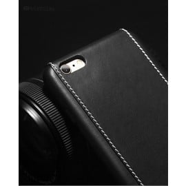 Vorson ® Apple iPhone 6 / 6S Trak Series Sport Textured Leather Dual-Stitching Metallic Electroplated Finish Back Cover