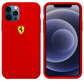 Scuderia Ferrari ® Apple iPhone 12 / 12 Pro / 12 Pro Max Liquid Silicon Velvet-Touch Silk Finish Shock-Proof Back Cover