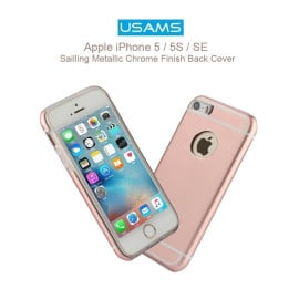 Usams ® Apple iPhone 5 / 5S / SE Sailling Metallic Chrome Finish Back Cover