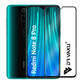 Dr. Vaku ® Redmi Note 8 Pro 5D Curved Edge Ultra-Strong Ultra-Clear Full Screen Tempered Glass- Transparent