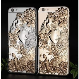 Love Crazy ® Apple iPhone 6 / 6S Dark Angel Star Ghost Series Metallic 3D Plating Back Cover