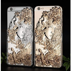 Love Crazy ® Apple iPhone 6 / 6S Dark Angel Star Ghost Series Metallic 3D Plating Back Cover
