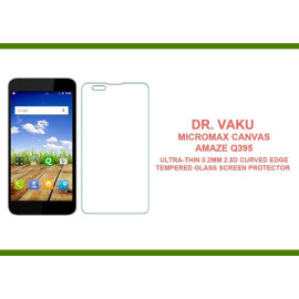Dr. Vaku ® Micromax Canvas Amaze Q395 Ultra-thin 0.2mm 2.5D Curved Edge Tempered Glass Screen Protector Transparent