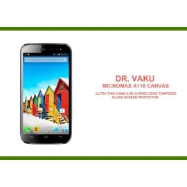 Dr. Vaku ® Micromax A116 Canvas Ultra-thin 0.2mm 2.5D Curved Edge Tempered Glass Screen Protector Transparent