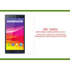 Dr. Vaku ® Micromax Canvas Nitro 2 E311 Ultra-thin 0.2mm 2.5D Curved Edge Tempered Glass Screen Protector Transparent