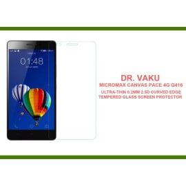 Dr. Vaku ® Micromax Canvas Pace 4G Q416 Ultra-thin 0.2mm 2.5D Curved Edge Tempered Glass Screen Protector Transparent