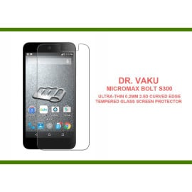 Dr. Vaku ® Micromax Bolt S300 Ultra-thin 0.2mm 2.5D Curved Edge Tempered Glass Screen Protector Transparent