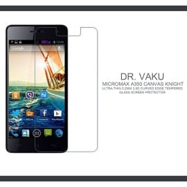 Dr. Vaku ® Micromax A350 Canvas Knight Ultra-thin 0.2mm 2.5D Curved Edge Tempered Glass Screen Protector Transparent
