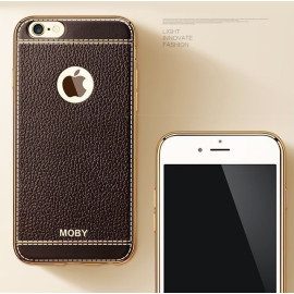 Moby ® Apple iPhone 6 / 6S Luxury Gold Metal Electroplated Silicone Soft Protective Sleeve Back Cover