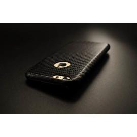 VAKU ® Apple iPhone 6 / 6S Carbon Fiber Finish Ultra-Light & Thin Logo Display Grip Back Cover