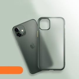 Luxos ® Apple iPhone 11  Translucent Armor Case + Vibrant Color buttons Back Cover