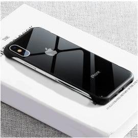 VAKU ® Apple iPhone X / XS Cluberia Frame-less Shine Series Logo Back Cover