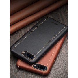 Vorson ® For Apple iPhone 7 Plus Trak Series Sport Textured Leather Dual-Stitching Metallic Electroplated Finish Back Cover