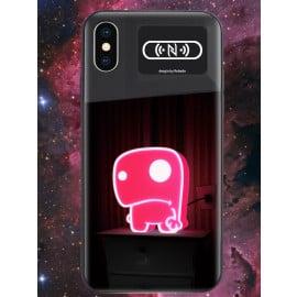 VAKU ® Apple iPhone X / XS NFC Wireless LED Light Illuminated 3D Designer Case Back Cover