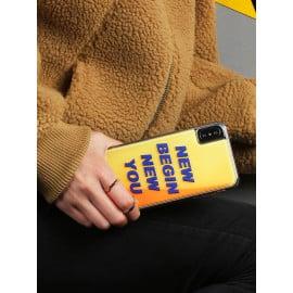 VAKU ® Apple iPhone X / XS  Neo Glow Waterfall Liquid Sand NEW BEING NEW YOU Shockproof Back Cover