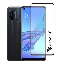 Dr. Vaku ® Oppo A53 Full Edge-to-Edge Ultra-Strong Ultra-Clear Full Screen Tempered Glass- Black