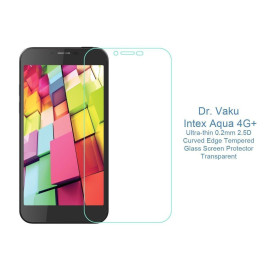 Dr. Vaku ® Intex Aqua 4G+ Ultra-thin 0.2mm 2.5D Curved Edge Tempered Glass Screen Protector Transparent