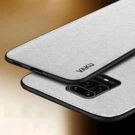Vaku ® Redmi Note 9 Pro Max Luxico Series Hand-Stitched Cotton Textile Ultra Soft-Feel Shock-proof Water-proof Back Cover