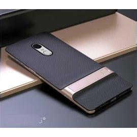 Vaku ® Xiaomi Redmi Note 4 Royle Case Ultra-thin Dual Metal + inbuilt Stand Soft / Silicon Case
