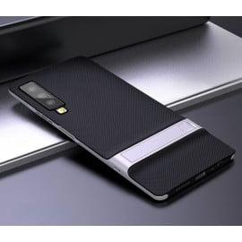 Vaku ® Samsung Galaxy A7 (2018) Royle Case Ultra-thin Dual Metal + inbuilt Stand Soft / Silicon Case