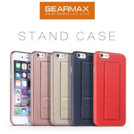 Gearmax ® Apple iPhone 6 / 6S Patterned Leather Finish with Multi-Foldable Magnetic Kickstand Case Back Cover