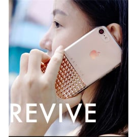Vaku ® Apple iPhone 8 Revive Series 4D Effect Shine Metal Electroplated Dual-Fusion Transparent TPU Back Cover