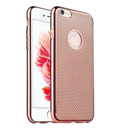 Vaku ® Apple iPhone 6 / 6S Ultra-thin Knit Metal Electroplating Finish Silicon TPU Back Cover