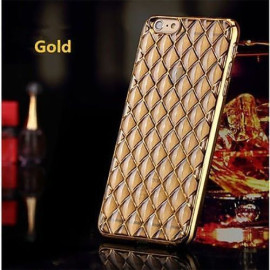 MeePhone ® Apple iPhone 6 Plus / 6S Plus Diamond Cube 4D Reflective Luxury Gold Electroplated Soft TPU Gel Back Cover