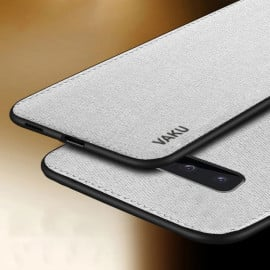 Vaku ® Samsung Galaxy S10 Plus Luxico Series Hand-Stitched Cotton Textile Ultra Soft-Feel Shock-proof Water-proof Back Cover