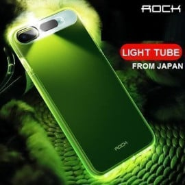 Rock ® Apple iPhone 8 Plus LED Light Tube Case with Flash Alert Soft / Silicon Case