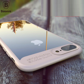 Vaku ® Apple iPhone 8 Kowloon Series Top Quality Soft Silicone 4 Frames + Ultra-thin Transparent Cover
