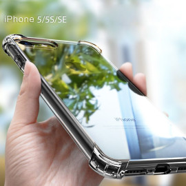 Vaku ® Apple iPhone 5 / 5S / SE PureView Series Anti-Drop 4-Corner 360° Protection Full Transparent TPU Back Cover Transparent