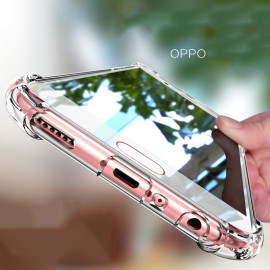 Vaku ® Oppo A71 PureView Series Anti-Drop 4-Corner 360° Protection Full Transparent TPU Back Cover Transparent