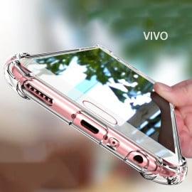Vaku ® Vivo V5 / V5s PureView Series Anti-Drop 4-Corner 360° Protection Full Transparent TPU Back Cover Transparent