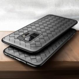 Vaku ® Samsung Galaxy S9 WeaveNet Series Cross-Knitt Heat-Dissipation Edition Ultra-Thin TPU Back Cover