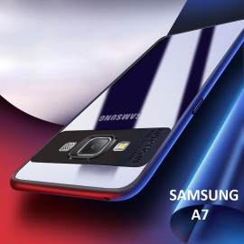 Vaku ® Samsung A7 Kowloon Series Top Quality Soft Silicone 4 Frames plus ultra-thin case transparent cover
