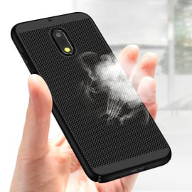 Vaku ® Nokia 6 Perforated Series Heat Dissipation Ultra-Thin PC Back Cover Black