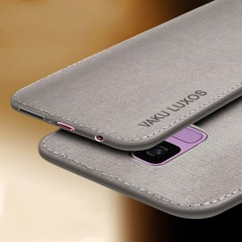 Vaku ® Samsung Galaxy A8 Plus Luxico Series Hand-Stitched Cotton Textile Ultra Soft-Feel Shock-proof Water-proof Back Cover