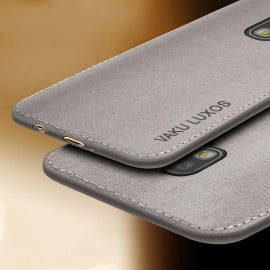 Vaku ® Samsung Galaxy J7 Pro Luxico Series Hand-Stitched Cotton Textile Ultra Soft-Feel Shock-proof Water-proof Back Cover