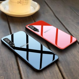 Vaku ® Samsung Galaxy A7 (2018) Club Series Ultra-Shine Luxurious Tempered Finish Silicone Frame Thin Back Cover