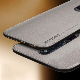 Vaku ® Oppo F11 Pro Luxico Series  Hand-Stitched Cotton Textile Ultra Soft-Feel Shock-proof Water-proof Back Cover