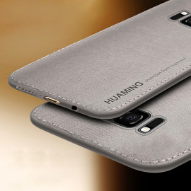 Vaku ® Samsung Galaxy S8 Plus Luxico Series Hand-Stitched Cotton Textile Ultra Soft-Feel Shock-proof Water-proof Back Cover