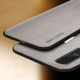 Vaku ® Samsung Galaxy  A9 (2018) Luxico Series Hand-Stitched Cotton Textile Ultra Soft-Feel Shock-proof Water-proof Back Cover