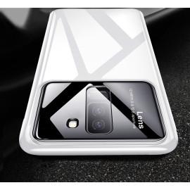 Vaku ® Samsung Galaxy J8 Polarized Glass Glossy Edition PC 4 Frames + Ultra-Thin Case Back Cover