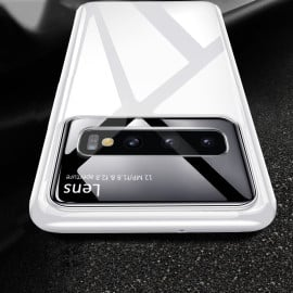 Vaku ® Samsung Galaxy S10 Polarized Glass Glossy Edition PC 4 Frames + Ultra-Thin Case Back Cover